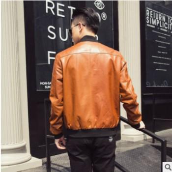 18年春季男士新款植鞣皮夹克真皮皮外套诺贝杜克品牌定制