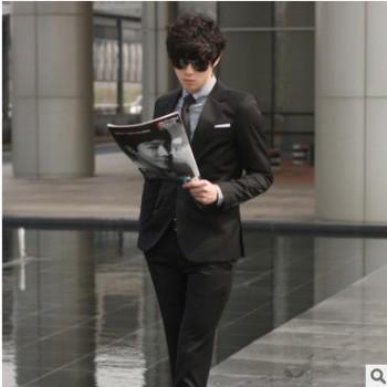 春秋款西服套装男士新郎结婚礼服伴郎服韩版修身商务职业正装西装