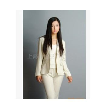 定制批发白领职业套装修身型女式职业西装行政文员工服工装