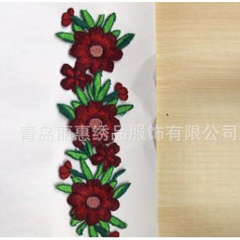 厂家批发刺绣图案布贴 绣标瓦片 来图定制绣花服装辅料【图】
