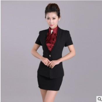 2015夏季新款女装 韩版OL正装女士西装 职业工作服三件套厂家批发