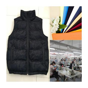 中山淘工厂男装秋冬薄款羽绒背心小批量来图来样加工定制