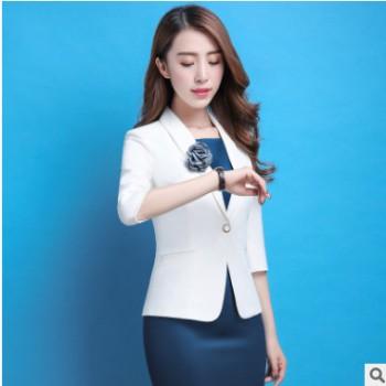 2018春夏新款时尚气质职业装套装女连衣裙工作服西装外套面试
