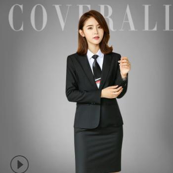 秋冬季韩版职业装新款西服套装女士修身西装长袖工作服商务正装