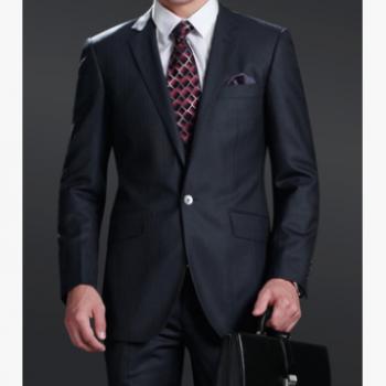深圳子奇服饰 深灰色仿毛面料 商务男士西装西服套装定制