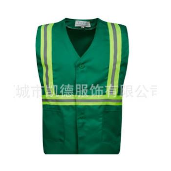 专业供应 背肩翠绿马甲 男式环卫马甲 公路养护环卫马甲