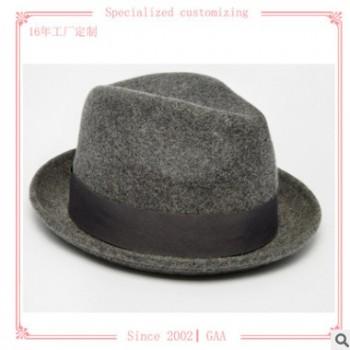 男女士潮春秋冬季复古呢子英伦小礼帽毡帽羊毛呢帽厂家批发定制