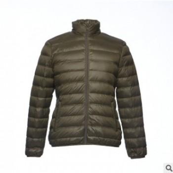 [十年专业冬装OEM]超轻温暖立领短款薄棉保暖服冬季户外运动棉服