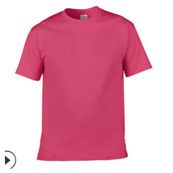 纯色男女全棉T恤短袖 广告印花宽松T恤logo定制 厂家直销批发