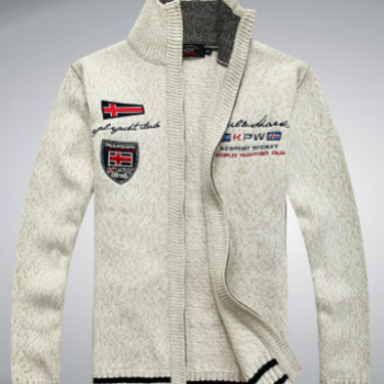 厂家直销 时尚欧美风男士修身立领保暖毛衣 加厚保暖男式毛衣外套