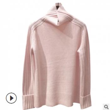 针织衫女长袖2018新款欧美风范优雅知性气质套头毛衣修身羊绒针织