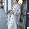 双面羊毛呢大衣格子中长款韩版时尚简约2018秋冬新款流行
