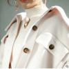 2018秋冬新款流行双面羊毛呢大衣格子中长款韩版爆款时尚简约