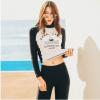2017新款韩版分体泳衣女长袖长裤防晒泳衣户外保暖潜水服成人泳装