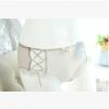 长期款 lolitaa内衣批发 透气螺纹棉糖果色丝带低腰三角内裤女689