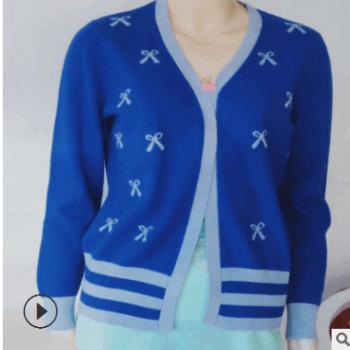 羊绒衫2018秋冬新款鄂尔多斯市渊源销售羊绒衫女士开衫断码清仓