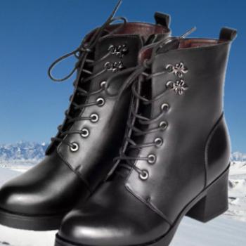 3515强人 女款短筒真牛皮羊毛棉靴 保暖雪地靴 武汉厂家直销批发