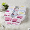 口水巾花朵围嘴 360度可旋转 婴儿围兜围嘴 宝宝口水巾 纯棉