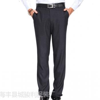 广州外贸西裤加工厂承接来料加工贴牌FOB 男西裤加工厂