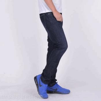 17年新款全棉高弹环保水洗都市商务休闲直筒中青年男式牛仔休闲裤