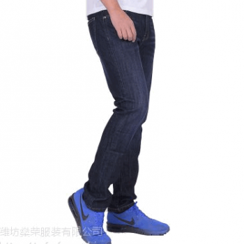 7AUMP01-H 男装厂家直销黑色17年新款弹力加厚韩版直筒显瘦商务休闲品牌正品男式牛仔裤