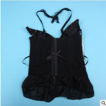 厂家批发日系钢骨性感聚拢塑身马甲束身衣甜美内衣束腰束胸收腹新