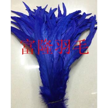 服装、婚庆、节庆、diy装饰羽毛 鸡毛 35-40宝蓝色鸡尾毛