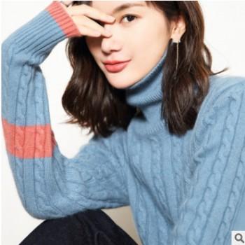 2018新款羊毛衫女半高领加厚短款毛衣宽松显瘦慵懒绒衫针织打底衫