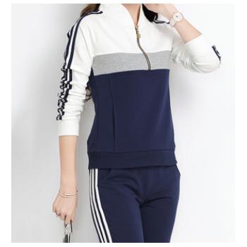 厂家直销新款韩版潮时尚大码宽松休闲两件套加工定制