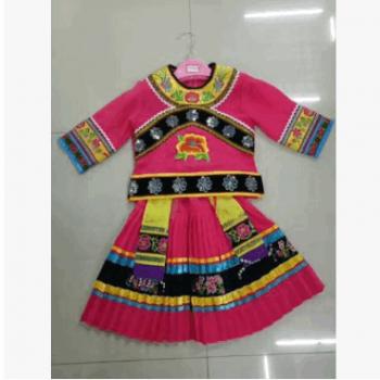 2017新款儿童苗族演出服女民族舞蹈服少数民族服装幼儿民族舞
