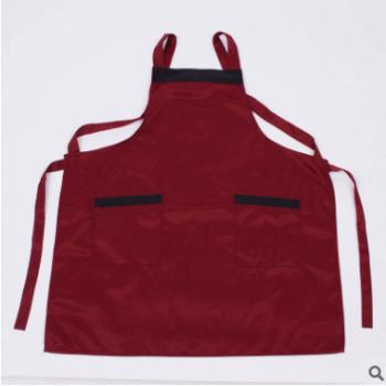 双肩围裙 厨房做饭市场搬货多用途双肩围裙 防水防油多色围裙直销