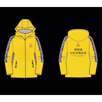 订做冲风衣促销服装厂家活动风衣外套定做凉荼饮料风衣可印绣花