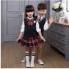 成都春秋男女童韩版小儿童三件套短袖套装学生校服班服幼定制定做