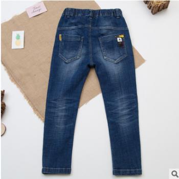 男童牛仔裤长裤 儿童休闲修身裤子中大童2018春秋童裤一件代发