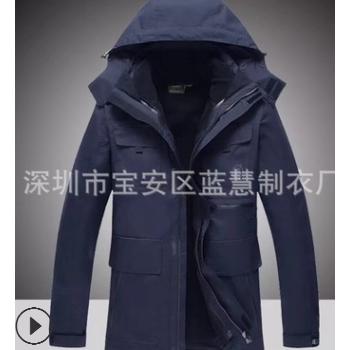 户外冲锋衣批发定做男女款工作服防风防水保暖两件套定制LOGO