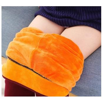 冬款女童加绒加厚打底裤 女中大童加高腰超柔保暖棉裤一件代发