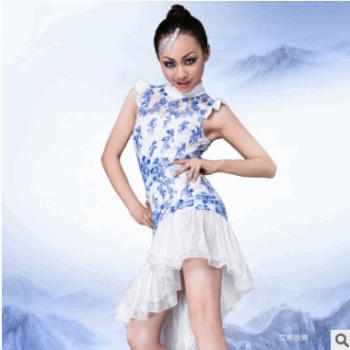 2017天魅新款儿童拉丁舞蹈服装蕾丝女童拉丁舞裙 儿童舞蹈演出服