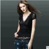 夏装新款网纱蕾丝T恤女短袖打底衫修身显瘦紧身性感体恤上衣半袖