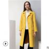 2018秋冬新款双面羊驼绒大衣女羊绒双面呢子羊毛中长款毛呢外套