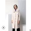 2018新款复古双面羊驼绒大衣女羊绒双面呢子羊毛中长款毛呢外套