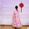 中国风宽松数码印花苎麻连衣裙