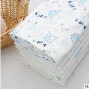 动物卡通 婴儿A类面料竹纤维汗布宝宝布料 透气柔软 内衣睡衣布料
