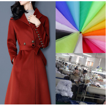 淘工厂女装专业生产秋冬梭织毛呢开衫大衣小批量定制外套来样定做