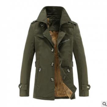 男士外套秋冬季2018新款加绒加厚风衣中长款休闲夹克男装秋装外衣