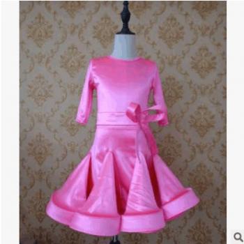 儿童拉丁舞服装秋冬练功服比赛规定标准服少儿舞蹈裙考级服表演服