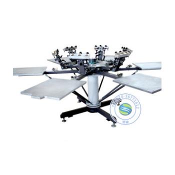 T恤丝印机 六色双轮转手动丝网印花机 无纺布印花机 6色印花机