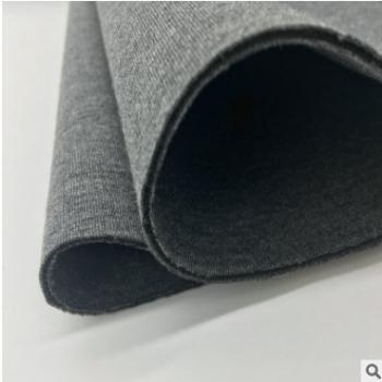 TR麻灰双面氨纶空气层夹层面料夹丝三明治针织布太空棉针织布