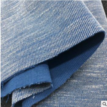 TR螺纹针织面料法国罗纹针织布双面色织罗纹粗细针织布人棉竹节