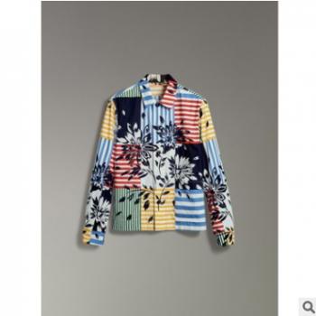 超细旦大牌数码印花艺术格子面料 热转移印花布 时装童装衬衫面料
