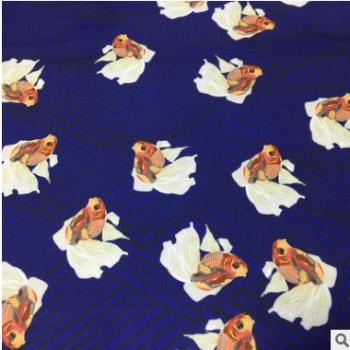 超细旦大牌小动物数码印花面料 热转移印花布 时装童装衬衫面料